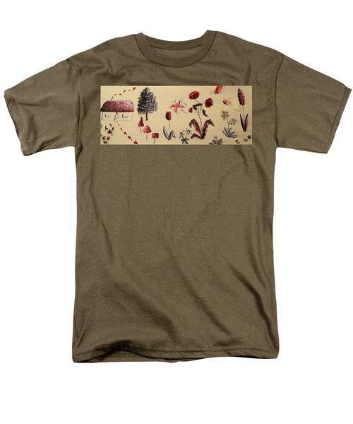 Heart Cottage Red 3 Men's T-Shirt  (Regular Fit) by Kathy Spall