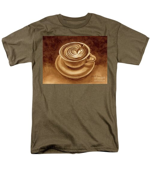 Men's T-Shirt  (Regular Fit) featuring the painting Heart Latte by Hailey E Herrera