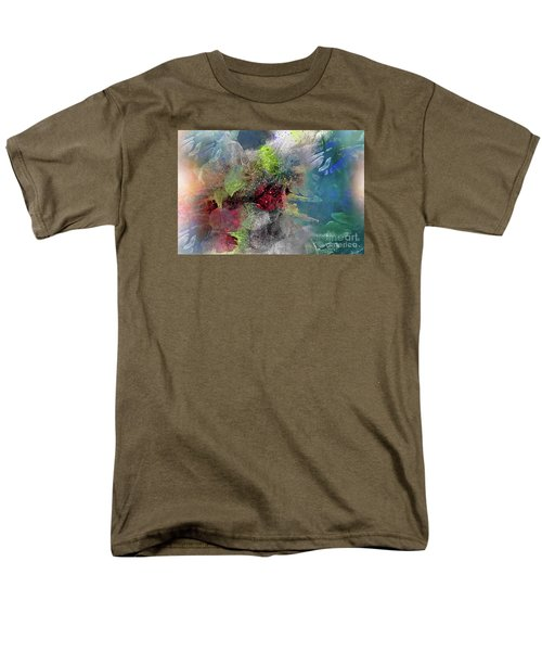 Men's T-Shirt  (Regular Fit) featuring the painting Heart Of The Matter by Allison Ashton