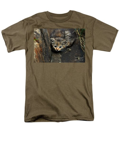 Hello Little Kitty Men's T-Shirt  (Regular Fit) by Eric Liller