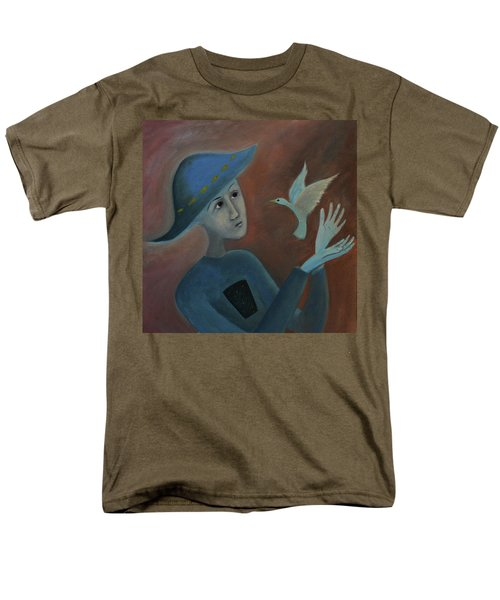 Men's T-Shirt  (Regular Fit) featuring the painting Hello To You by Tone Aanderaa