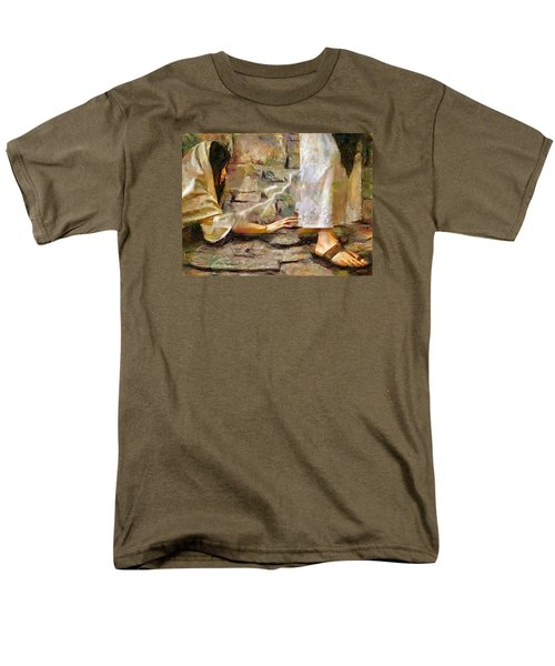 Men's T-Shirt  (Regular Fit) featuring the painting Hem Of His Garment by Wayne Pascall
