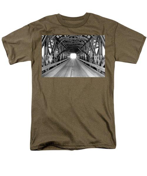 Henniker Covered Bridge Men's T-Shirt  (Regular Fit) by Greg Fortier