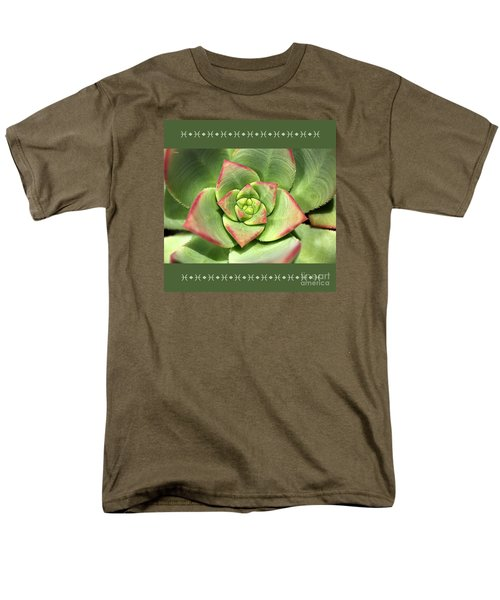 Hens And Chicks Succulent And Design Men's T-Shirt  (Regular Fit) by Joy Watson