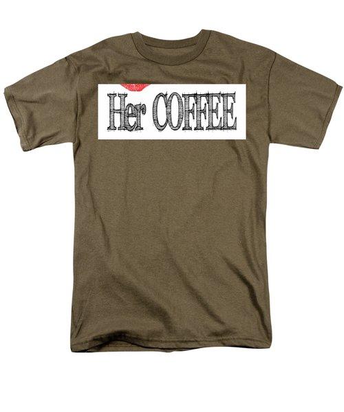Her Coffee Mug Men's T-Shirt  (Regular Fit) by Robert J Sadler