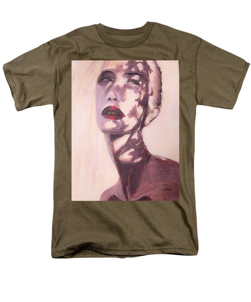 Men's T-Shirt  (Regular Fit) featuring the painting Here Comes The Sun  by Jarko Aka Lui Grande
