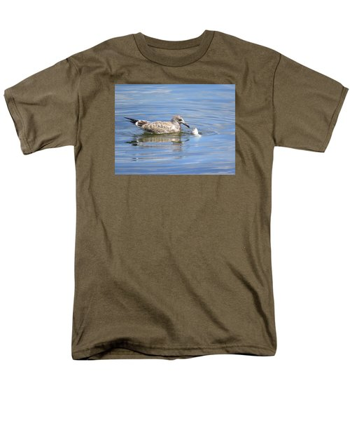 Men's T-Shirt  (Regular Fit) featuring the photograph Here Fishy Fishy by Phyllis Beiser