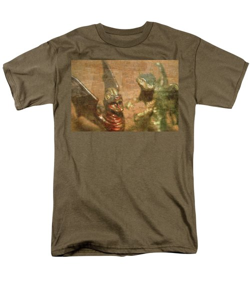 ....here There Be Dragons Men's T-Shirt  (Regular Fit) by Martina Fagan