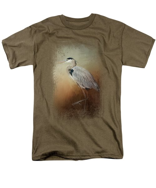 Heron At The Inlet Men's T-Shirt  (Regular Fit) by Jai Johnson