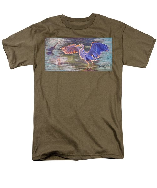 Heron Majesty Men's T-Shirt  (Regular Fit) by Janet McDonald