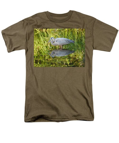 Heron's Reflection Men's T-Shirt  (Regular Fit) by Jane Ford
