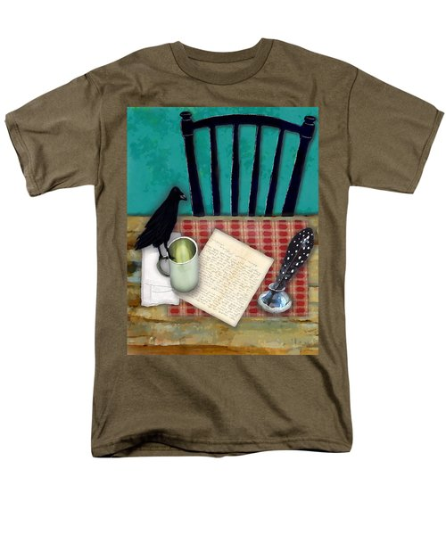 Men's T-Shirt  (Regular Fit) featuring the digital art He's Gone by Lisa Noneman