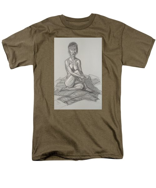 Men's T-Shirt  (Regular Fit) featuring the drawing Hey Yong Seated by Donelli  DiMaria