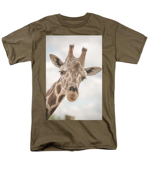 Hi There, I'm A Giraffe Men's T-Shirt  (Regular Fit) by David Collins