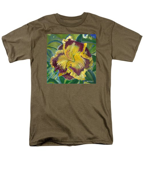 Men's T-Shirt  (Regular Fit) featuring the painting Hibiscus 2 by John Keaton
