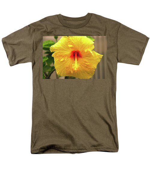 Hibiscus Flower After The Rain Men's T-Shirt  (Regular Fit) by Michael Courtney