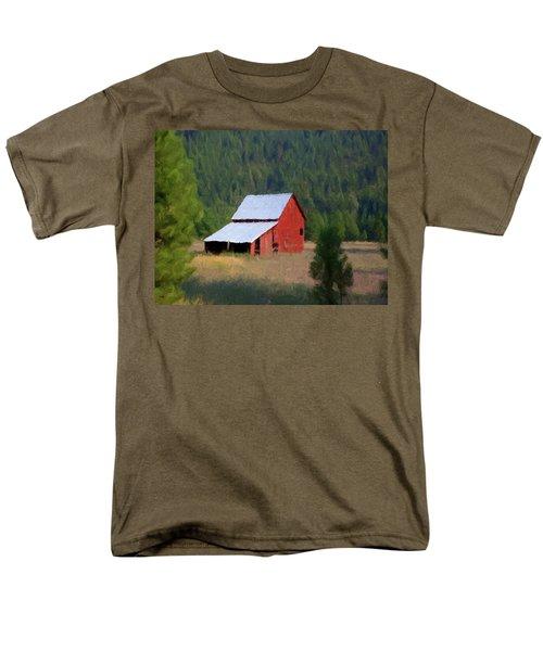 Men's T-Shirt  (Regular Fit) featuring the painting Hidden Away P D P by David Dehner