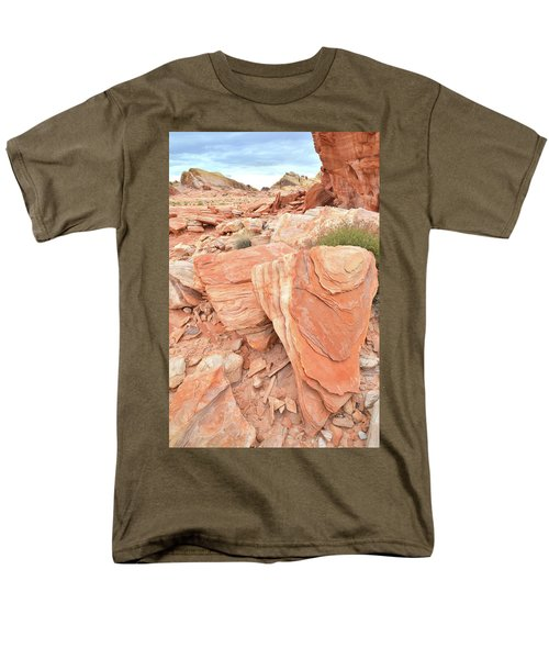 Men's T-Shirt  (Regular Fit) featuring the photograph Hidden Cove In Valley Of Fire by Ray Mathis