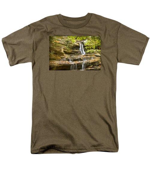 Hidden Falls-hanging Rock State Park Men's T-Shirt  (Regular Fit) by Bob Decker