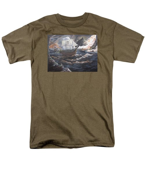 Men's T-Shirt  (Regular Fit) featuring the painting Hidden Skull Cove by Kevin F Heuman