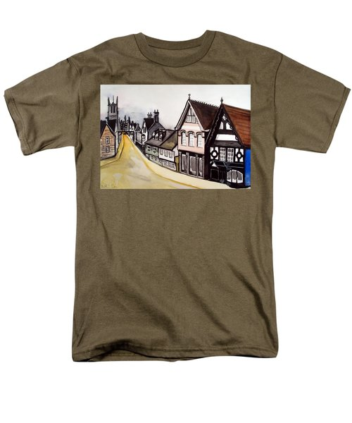 High Street Of Stamford In England Men's T-Shirt  (Regular Fit)