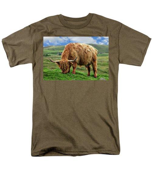 Highland Cow Men's T-Shirt  (Regular Fit) by Anthony Dezenzio