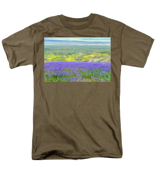 Hike To The Top Of Temblor Range Men's T-Shirt  (Regular Fit) by Marc Crumpler