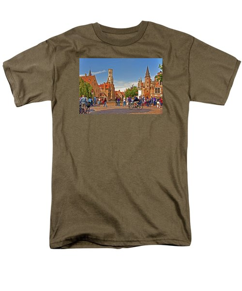 Men's T-Shirt  (Regular Fit) featuring the photograph Historic Bruges by Dennis Cox WorldViews