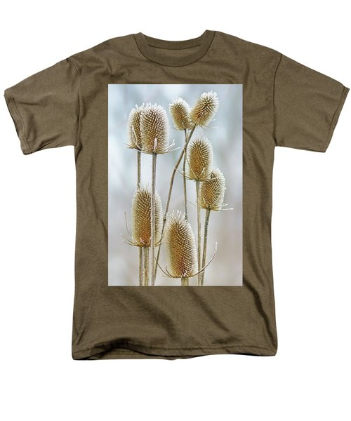 Hoar Frost - Wild Teasel Men's T-Shirt  (Regular Fit) by Nikolyn McDonald