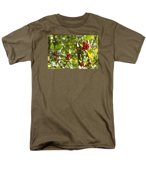 Men's T-Shirt  (Regular Fit) featuring the photograph Holly With Berries by Chevy Fleet