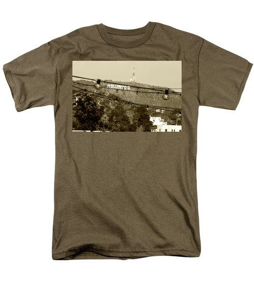 Men's T-Shirt  (Regular Fit) featuring the photograph Hollywood Sign On The Hill 4 by Micah May