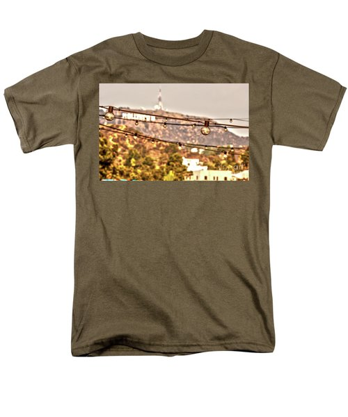 Men's T-Shirt  (Regular Fit) featuring the photograph Hollywood Sign On The Hill 6 by Micah May
