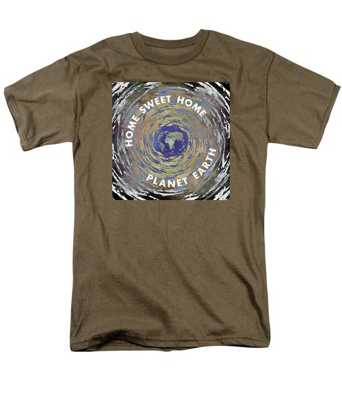 Men's T-Shirt  (Regular Fit) featuring the digital art Home Sweet Home Planet Earth by Phil Perkins
