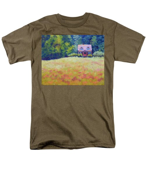 Men's T-Shirt  (Regular Fit) featuring the painting Homestead by Nancy Jolley