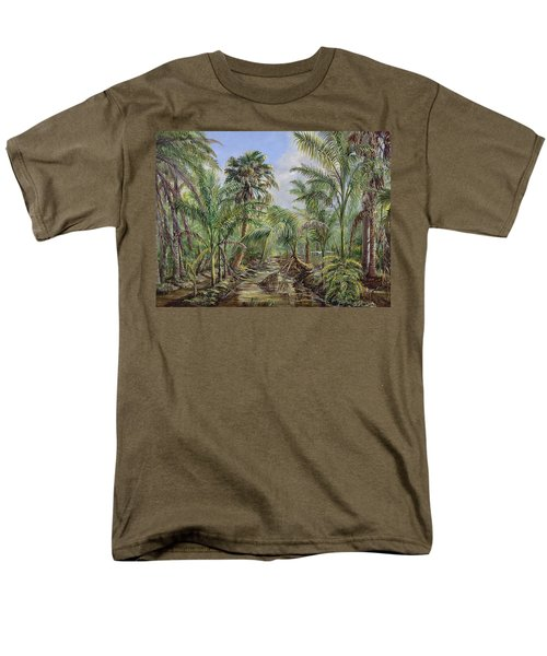 Men's T-Shirt  (Regular Fit) featuring the painting Homestead Tree Farm by AnnaJo Vahle