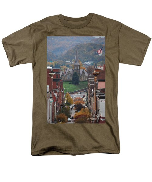 My Hometown Cumberland, Maryland Men's T-Shirt  (Regular Fit) by Eric Liller