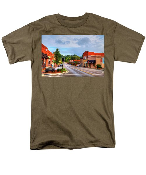 Hometown America Men's T-Shirt  (Regular Fit) by Dale R Carlson