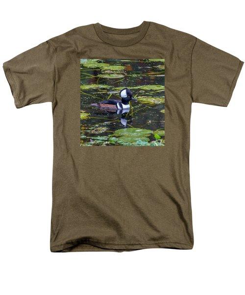 Men's T-Shirt  (Regular Fit) featuring the photograph Hooded Merganser by Jerry Cahill