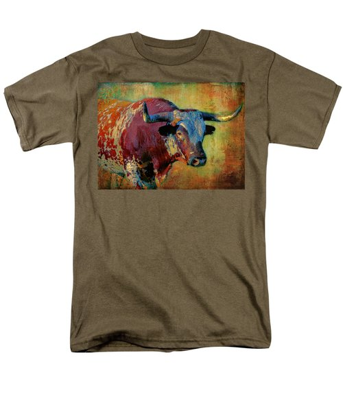 Men's T-Shirt  (Regular Fit) featuring the digital art Hook 'em 2 by Colleen Taylor