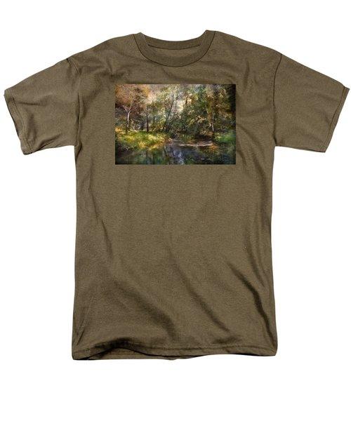 Hopkins Pond, Haddonfield, N.j. Men's T-Shirt  (Regular Fit) by John Rivera
