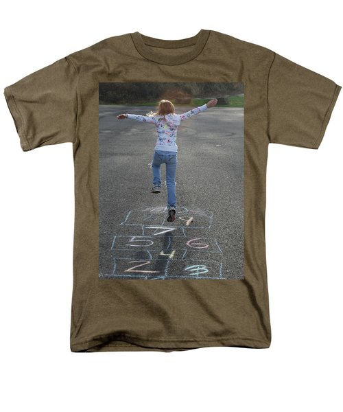 Men's T-Shirt  (Regular Fit) featuring the photograph Hopscotch Queen by Richard Bryce and Family