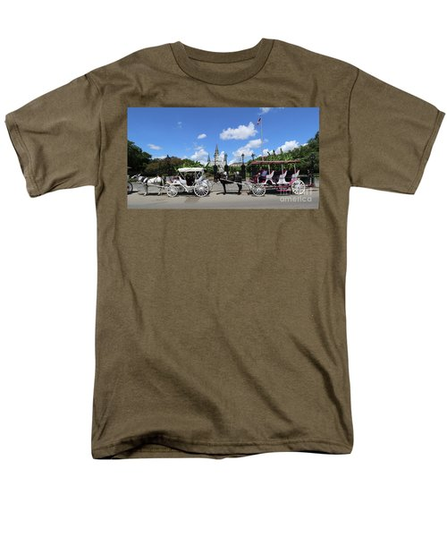 Men's T-Shirt  (Regular Fit) featuring the photograph Horse Carriages by Steven Spak