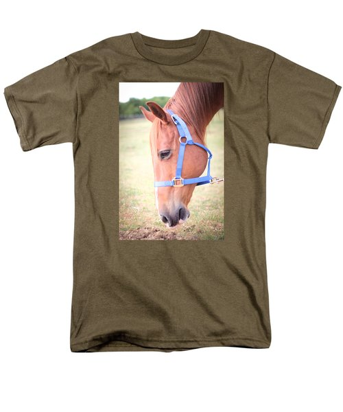 Men's T-Shirt  (Regular Fit) featuring the photograph Horse Eating Grass by Kelly Hazel
