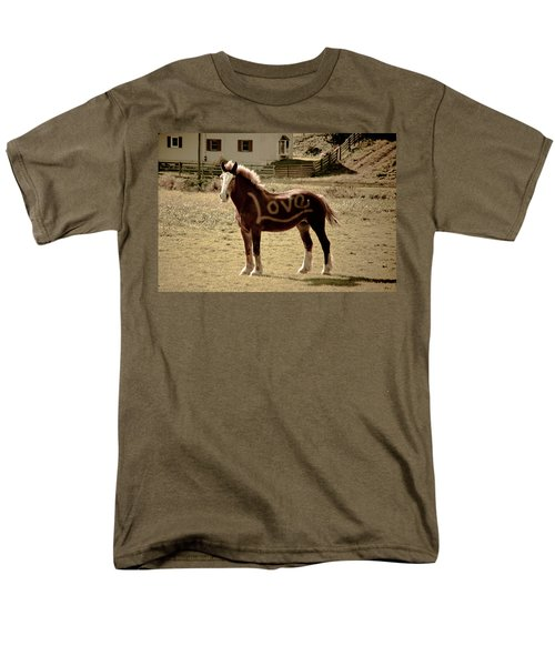 Horse Love Men's T-Shirt  (Regular Fit) by Trish Tritz