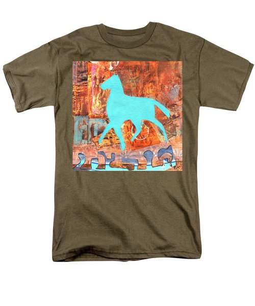 Horse Remix Men's T-Shirt  (Regular Fit) by Patricia Cleasby