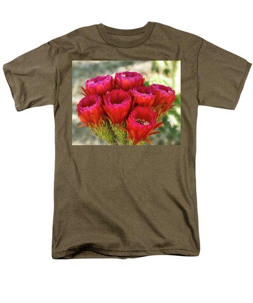 Men's T-Shirt  (Regular Fit) featuring the photograph Hot Pink Torch Cactus Bouquet  by Saija Lehtonen