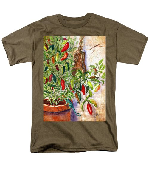 Men's T-Shirt  (Regular Fit) featuring the painting Hot Sauce On The Vine by Marilyn Smith