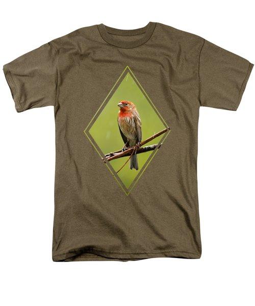 House Finch In The Rain Men's T-Shirt  (Regular Fit)