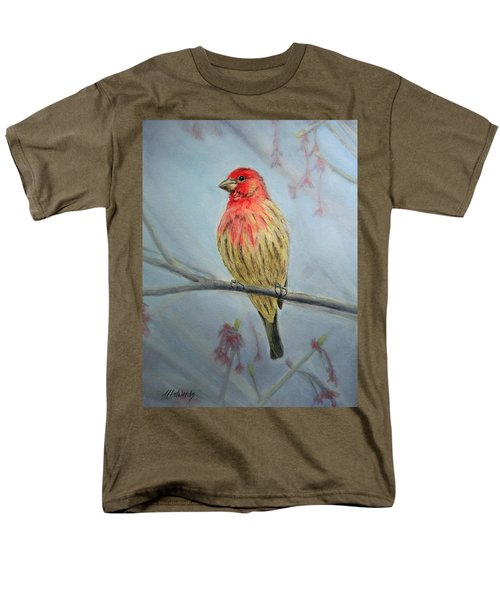 Men's T-Shirt  (Regular Fit) featuring the painting House Finch by Marna Edwards Flavell