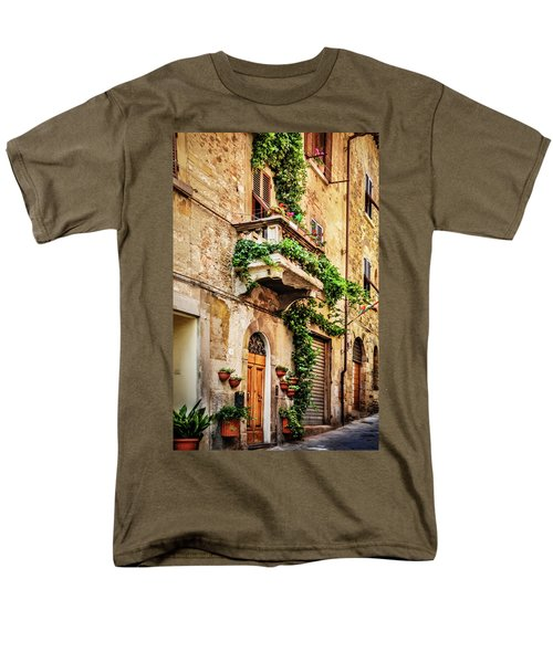 Men's T-Shirt  (Regular Fit) featuring the photograph House In Arezzoo, Italy by Marion McCristall